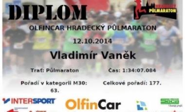 Výsledky OLFINCAR Hradecký půlmaraton 2014